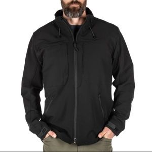 5.11. Tactical Black Town of Cicero Embroidered Patches Work Jacket Men's Large